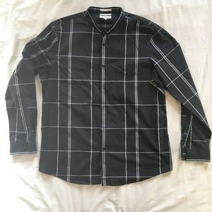 CALIBRATE Non-Iron Slim Fit Button Down Shirt XL